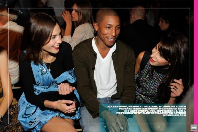 Alexa Chung, Pharrell Williams, & Caroline-Sieber
