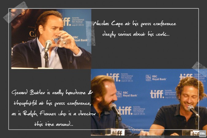 Ralph Fiennes, Nicolas Cage & Gerard Butler
