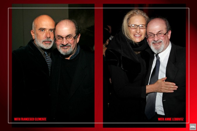 Francesco Clemente, Annie Leibovitz, Salman Rushdie