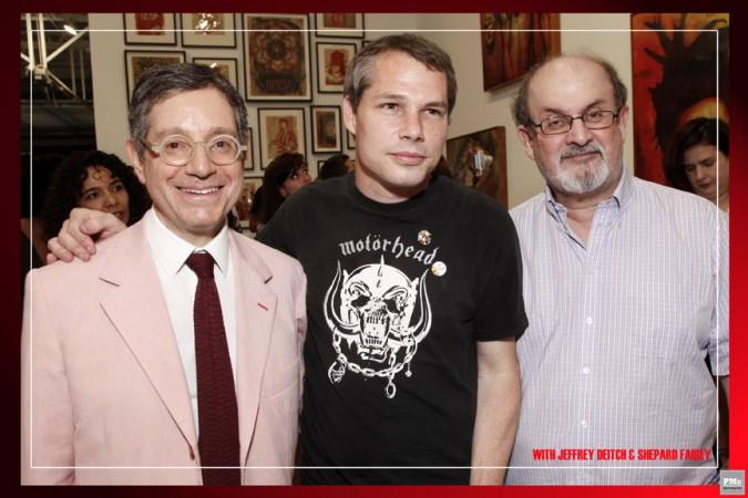 Jeffrey Deitch, Shepard Fairey, Salman Rushdie