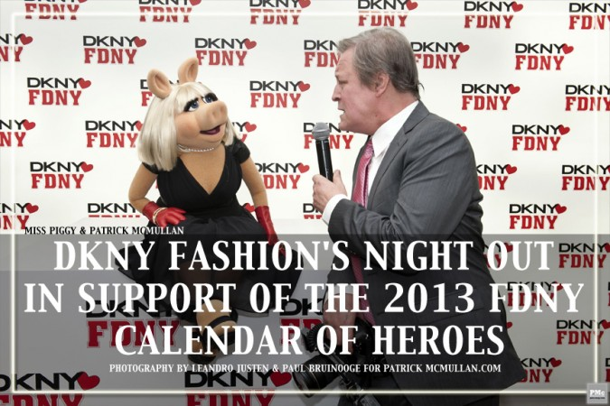 DKNY Fashion's Night Out in Support of the 2013 FDNY Calendar of Heroes
