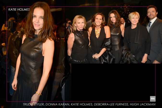 Donna Karan 30th-Trudie Styler, Donna Karan, Katie Holmes, Deborra-Lee Furness, Hugh Jackman