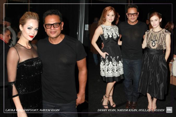 FashionWeek-Laura Vandervoort, Naeem Khan, Debby Ryan, Naeem Khan, Holland Roden